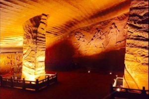 A total of 24 hand-dug caves were ultimately discovered, each with an average floor area of a thousand square meters and ceilings that reaches heights of up to 30 meters.