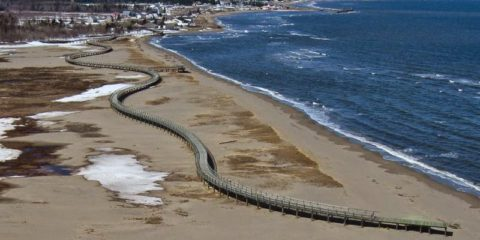 Aerial view of Bouctouche Dune. Image credit Yvon Hache