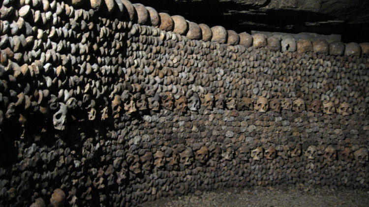 """The Catacombs,"""" has become one of the top tourist attractions in Paris on a small scale from the early 19th century,"""