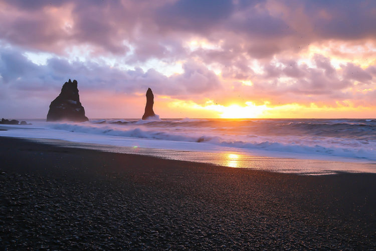 In Iceland this is wettest place, as rains are permanent feature, as here for 340 days a year. Moreover sand is also clean from the stones and any other impurities.