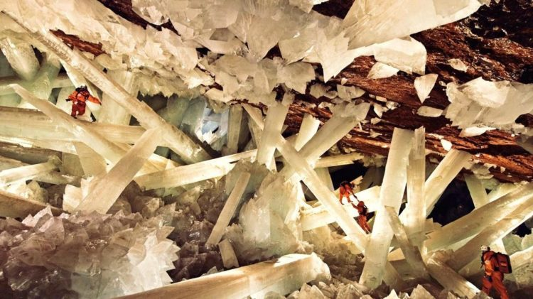 Investigators have discovered a new type of gypsum formation, collected ancient pollen in the crystals, and extracted the DNA of extremophiles trapped in the crystals to match them to they're closest living relative.