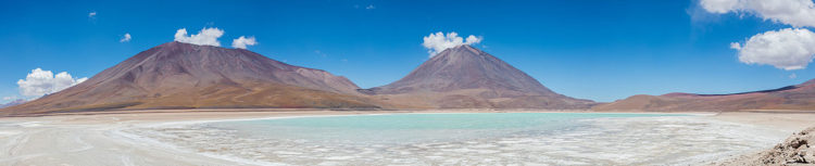 It is at the southwestern extremity of the Eduardo Avaroa Andean Fauna National Reserve and Bolivia itself.