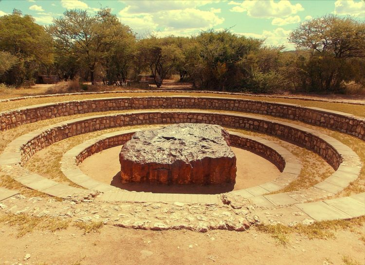 "The Hoba meteorite has this name because it is lies on the farm ""Hoba West"" not far from Grootfontein, in the Otjozondjupa Region of Namibia."