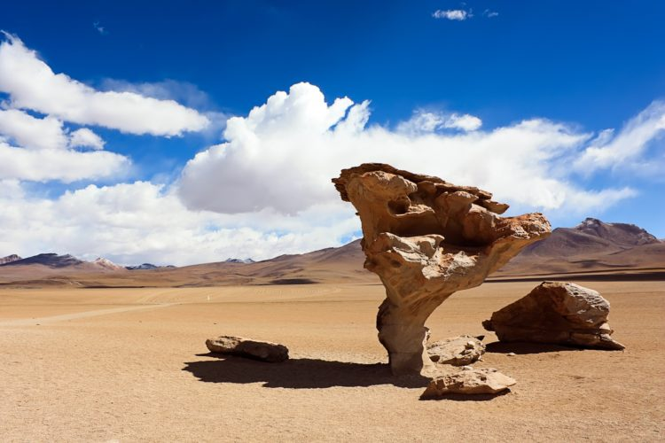 There are so many huge rocks in special shapes in of Sur Lípez Province, Bolivia. The force of water and wind cannot be underestimated, because Mother Nature is a great artist and can shape any surface into his own will.
