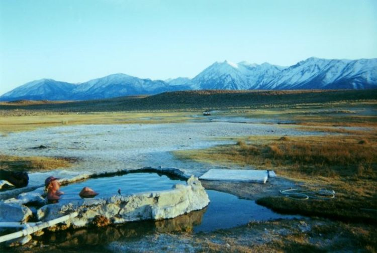 Hilltop Hot Spring, south of Mammoth Lakes.