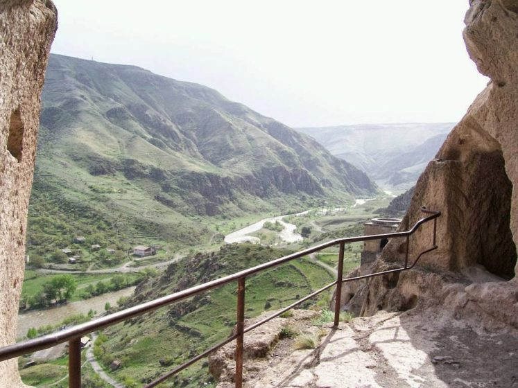 The monks formed a system of irrigated terraces that would feed those inside. It is hidden within the mountain and perhaps the first example of an eco-friendly self-sustainable (in terms of food and water) structure in Europe, it must have been considered impregnable.