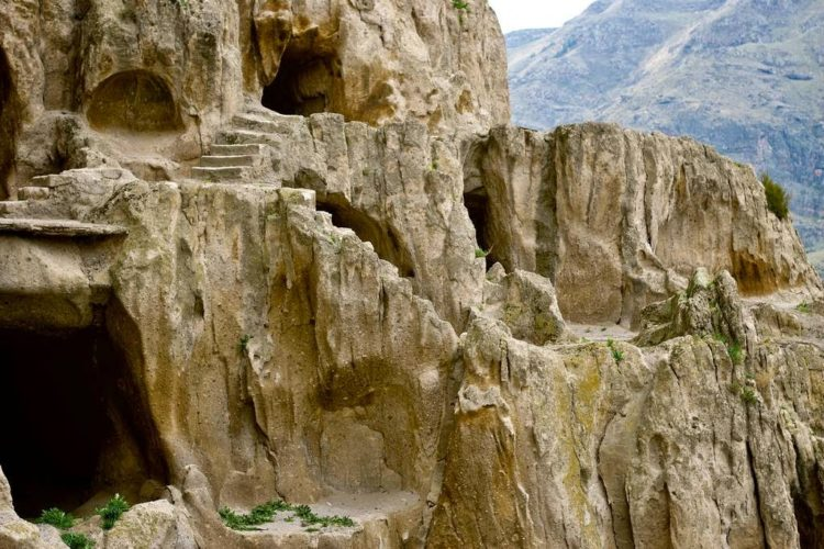 It looks like it is the ruins of some huge Tolkien city, Minas Tirith in ruins. Yet this was not to be the home of dwarves but of monks – and many of them.