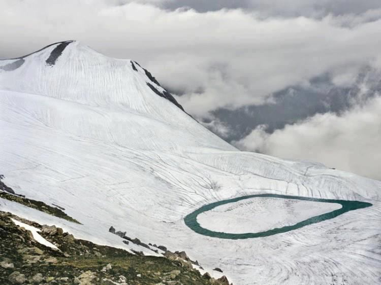 In the summer, when ice melts, it got more prominent. However, this beautiful lake was partially destroyed in the 2005 massive earthquake.
