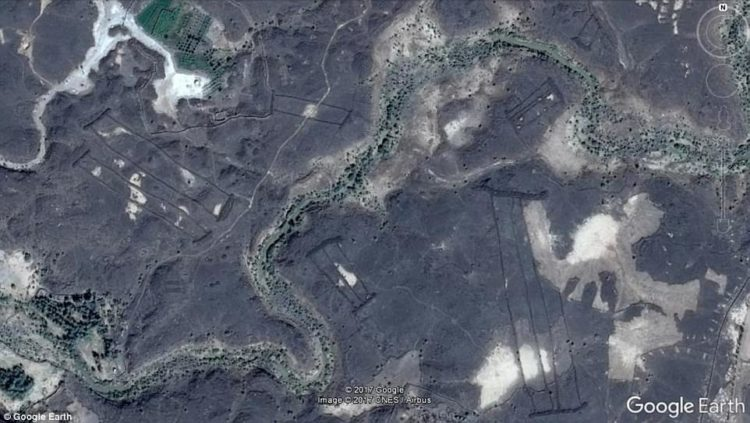 Archaeologists have discovered 400 mysterious stone structures on the edge of volcanoes that could be thousands of years old in a remote desert area in Saudi Arabia