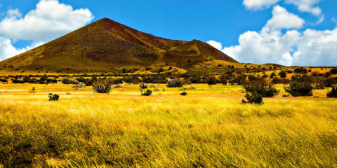 Strawberry Crater offers a variety of recreational activities such as day hiking and horseback riding.