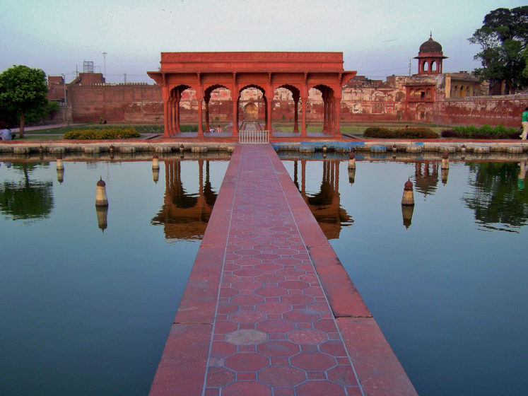 Shalamar Gardens, sometimes called Shalimar Gardens were laid out as a Persian Paradise Garden.