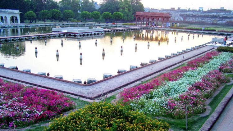 The Shalimar Gardens are located near Baghbanpura along the Grand Trunk Road approximately five kilometers northeast of the main Lahore city.