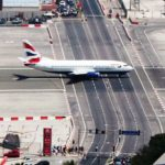 Gibraltar Strange Airport, Where Runway Intersecting a Road