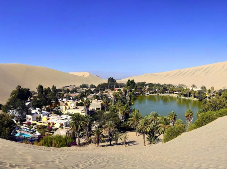 Huacachina is a literal oasis in the Peruvian desert. It's a resort town built around a small, natural lake in the Southwestern Ica Region.