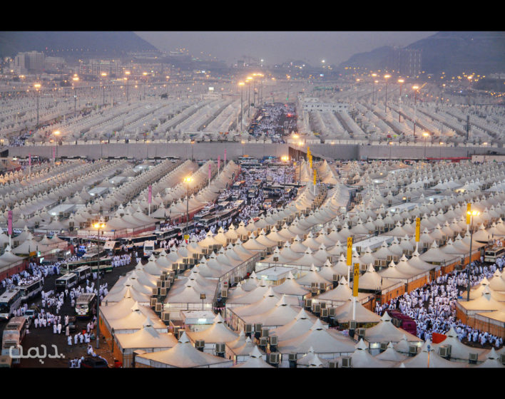 These tents cover every open space, as maximum as a naked eye can see, neatly arranged row after row.