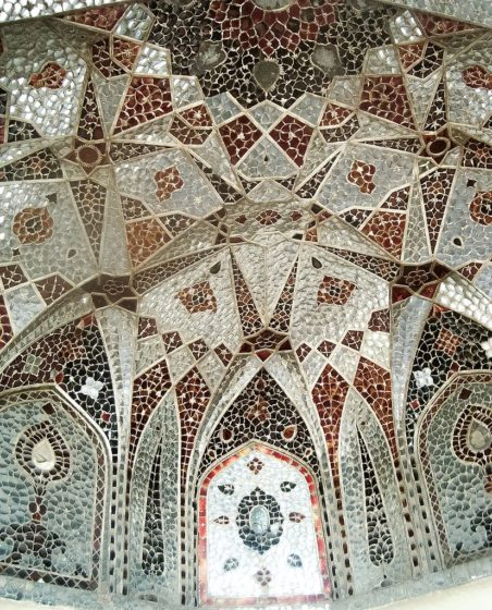 Sheesh Mahal is known for its ayina kari - mirrored tile-work.