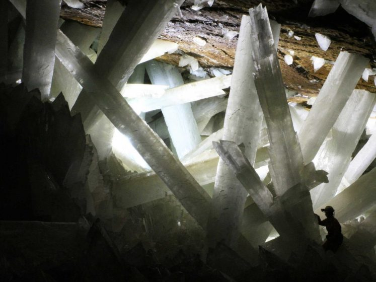 The Crystal Caves of Naica, in Mexico, were discovered in 2000. The immense crystals are believed to have grown for about 500,000 years due to the chamber's unique conditions.