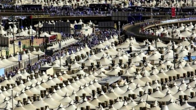 The Hajj is the ritual Islamic pilgrimage to Makkah, and Mina tent city is used for five days each year by Hajj pilgrims, and empty for the rest of the time.