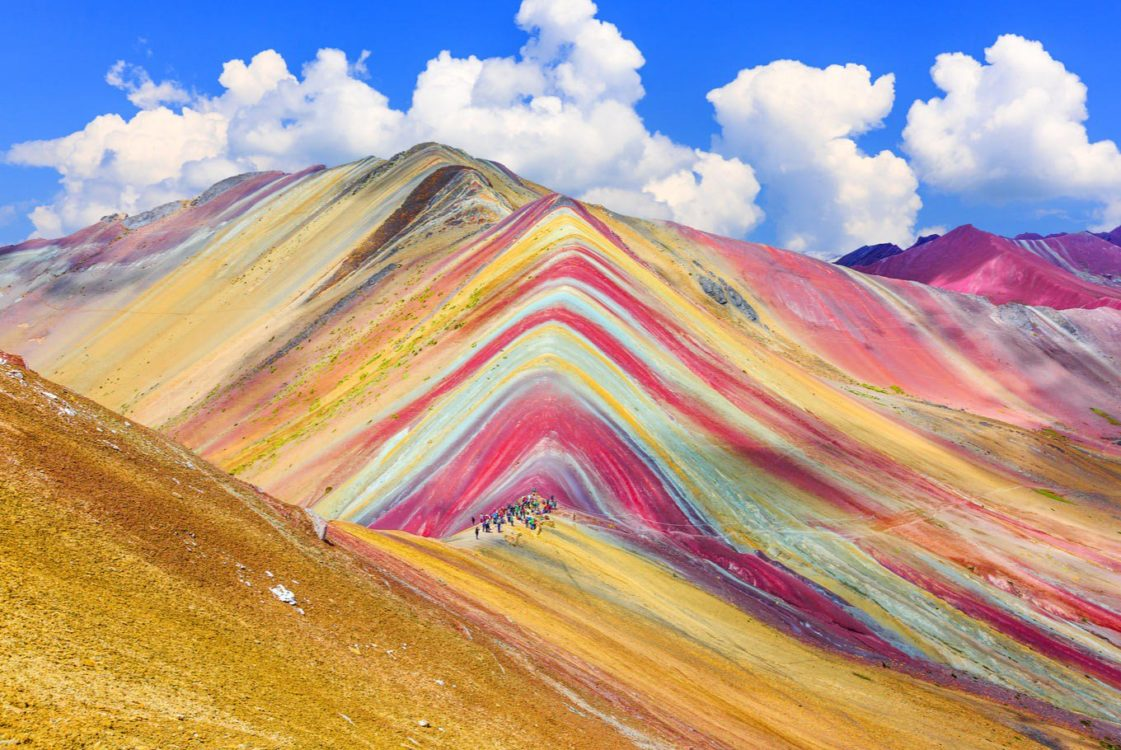 One of the most wonderful geologic features in the world is the Ausangate Mountain of the Peruvian Andes.