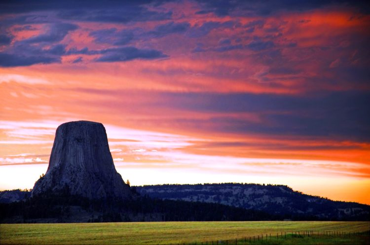 "The Devils Tower is also called Mato Tipila, which means ""Bear Lodge"". The scared devils tower is an astonishing geologic feature that protrudes out of the prairie surrounding the Black Hills."