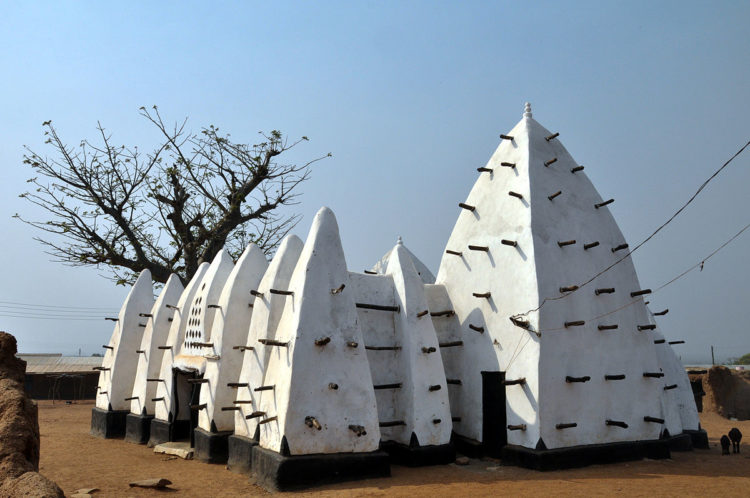 This adobe Sahelian mosque is said to date from 1421 has been included on the 2002 World Monuments Watch.