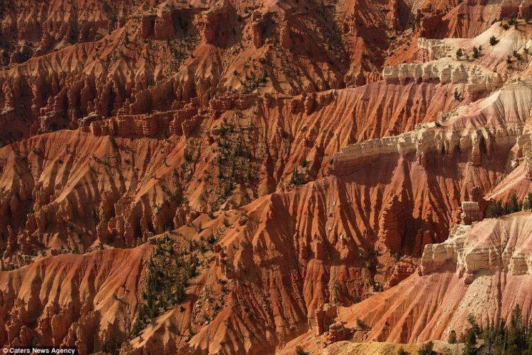Many of Mr Todorov's pictures show a different angle to American life. Pictured is the Cedar Breaks National Monument in Utah
