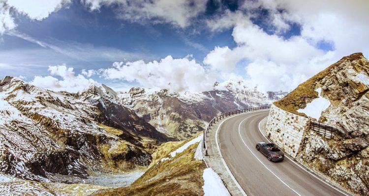Pictured is Grossglockner Alpine Road in Austria, one of the highest roads on his trip