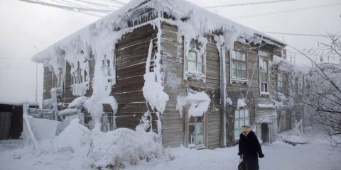 The coldest inhabited place on Earth is a small village in the Siberian tundra called Oymyakon,a two-day drive from the coldest major city Yakutsk