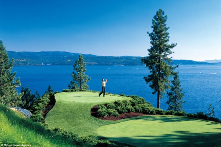 The resort has to retrieve 28,000 balls each year from the lake that have been hit by golfers who weren't able to land their shot on the green