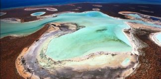 Gypsum Lakes of Shark Bay