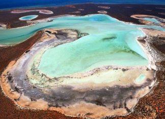 Gypsum Lakes of Shark Bay