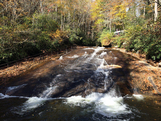 Sliding Glass Rock is one of most visited place in Pisgah National Forest.