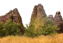 The magnificent hauntingly beautiful Domes de Fabedougou undisturbed, and better for their desolation, bar local cows and herders.