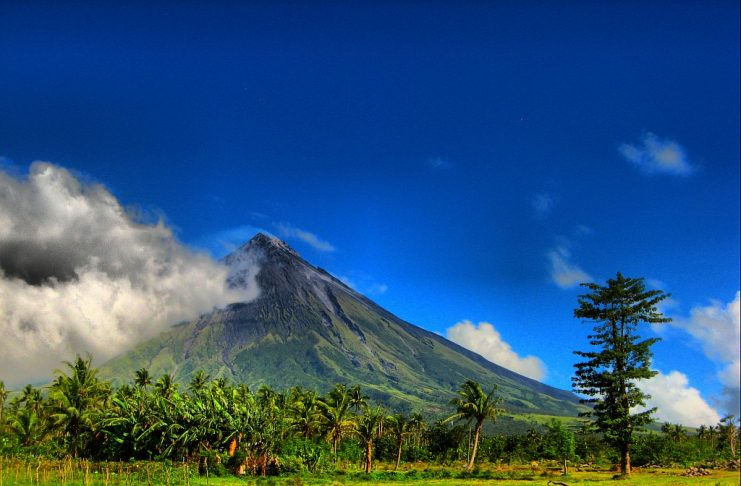 The Mount Mayon is renowned for its almost symmetric conical shape. Mayon is considered to have the world's most perfectly formed cone due to its symmetry.