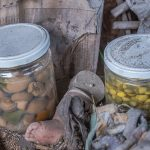 A strange looking jar inside one of the shrines appears to contain old mushrooms, soaked in a liquid