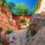 Providence Canyon started creating in the start of 18th century due to poor farming practices.