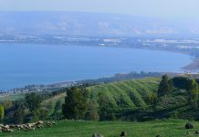 The Sea of Galilee (Lake Tiberias) is a magnificent geographical marvel surrounded by pretty rural agricultural settlements.