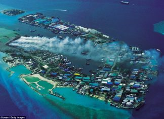 """Somewhere 25 years ago, Thilafushi was a pristine lagoon called """"Thilafalhu"""". However in 1991 a decision was taken to reclaim the lagoon as a landfill to address the ongoing problems of waste disposal generated by tourism industry."""
