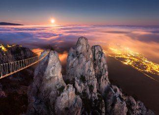 Ai-Petri is a famous peak in the Crimean Mountains.