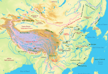 The North China Plain is also called Middle plain, a large-scale down faulted rift basin formed in late Paleogene and Neogene. It was then modified by the deposits of the Yellow River and is the largest alluvial plain of China.