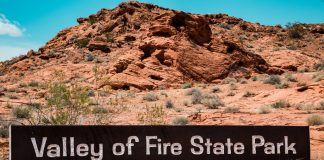 The park is covering approximately 46,000 acres located 26 km south of Overton, Nevada and 50 miles northeast of Las Vegas.