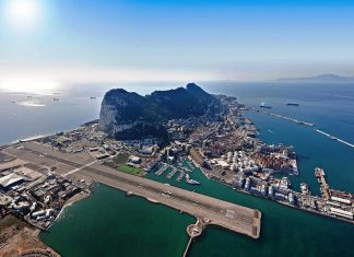 The Rock of Gibraltar ! Monolithic Limestone Promontory