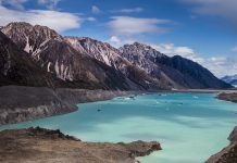 Tasman Lake is a proglacial lake created by the current retreat of the Tasman Glacier in New Zealand's South Island.