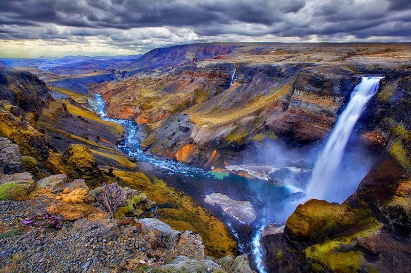 Haifoss Waterfall – Second Highest Waterfall in Iceland