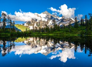 """Mount Shuksan name mean is """"high peak"""" composed of greenchist, and oceanic basalt."""