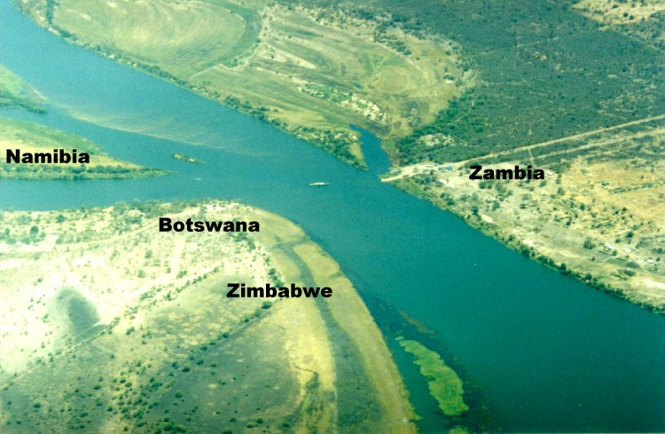 African Quadripoint is only one place on the earth where the corners of four countries come together Zambia, Zimbabwe, Botswana, and Namibia