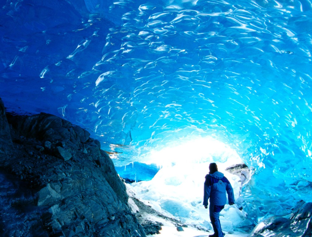 The Widespread Mendenhall Ice Cave is one of the most amazing natural phenomenon's that can be found in Alaska, United States.