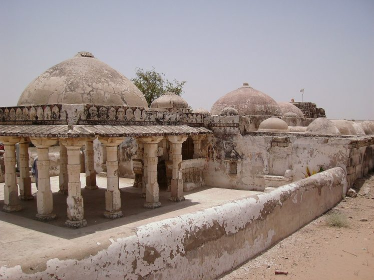 The Gori Temple features several domes and canopies.