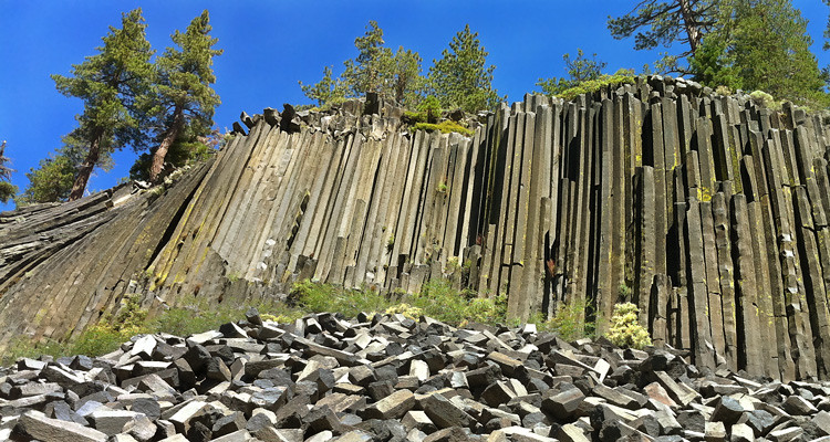 The Devils Postpile is an amazing place but worth the hike to the top.