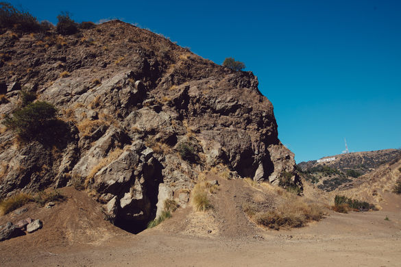 The remote looking craggy setting of Bronson Canyon Caves, or Bronson Caves, is a popular filming section of Griffith Park in Los Angeles.